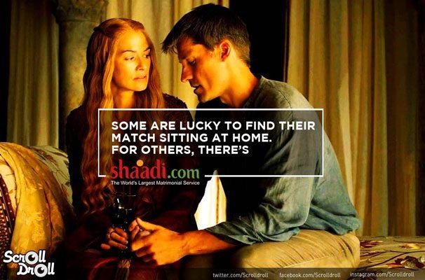 Cersei-Jaime-GOT-Shaadi-Ad
