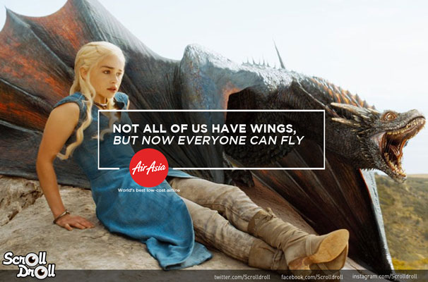 Daenerys-Targaryen-Air-Asia-Ad