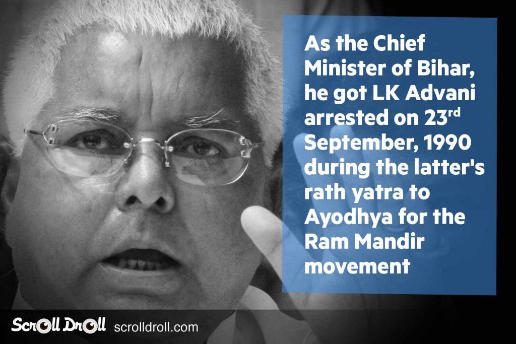 Lalu Prasad yadav Facts
