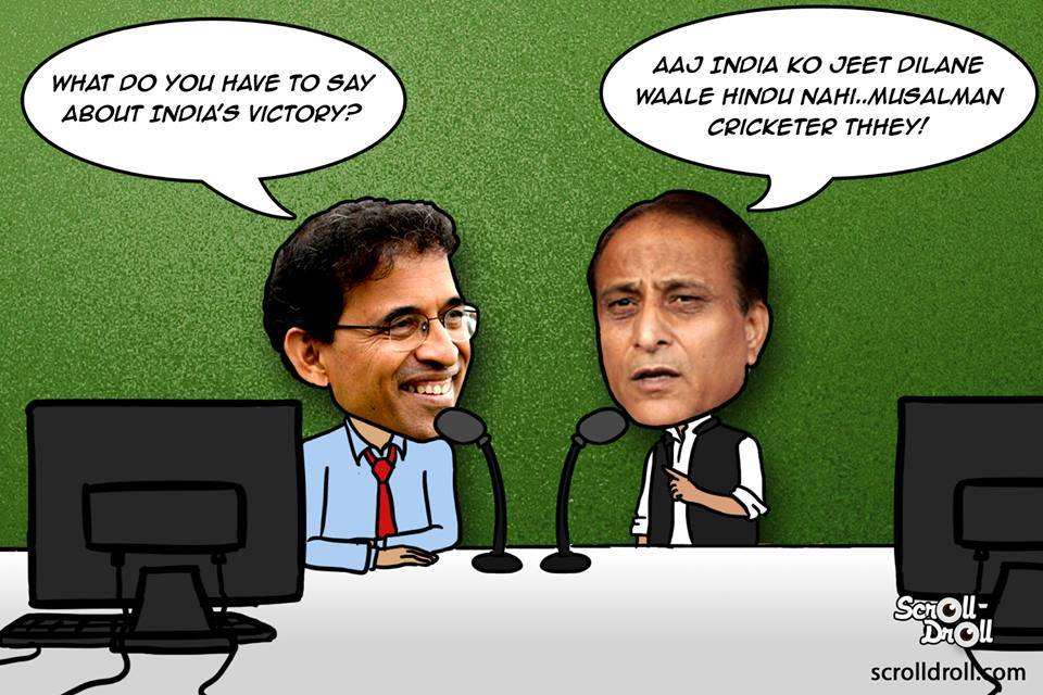 Azam Khan As Cricket Commentator