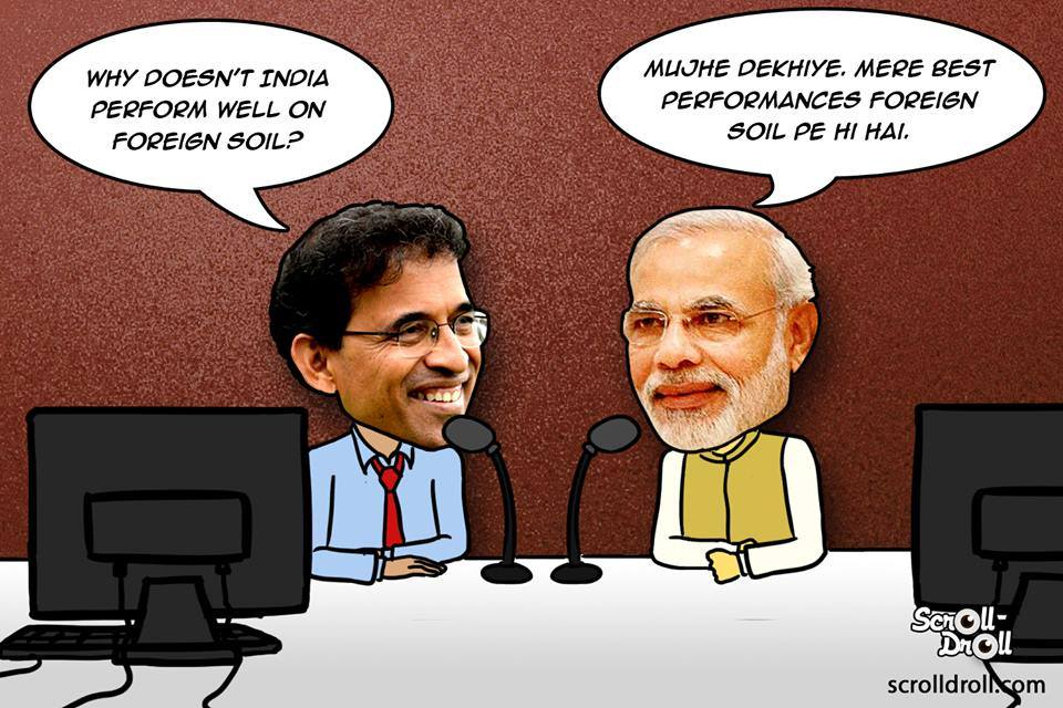 Narendra Modi As Commentator