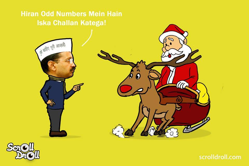 When Kejriwal Met Santa