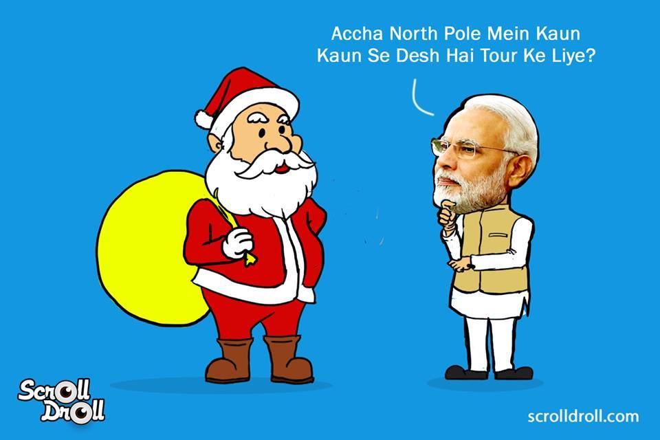 When Modi Met Santa