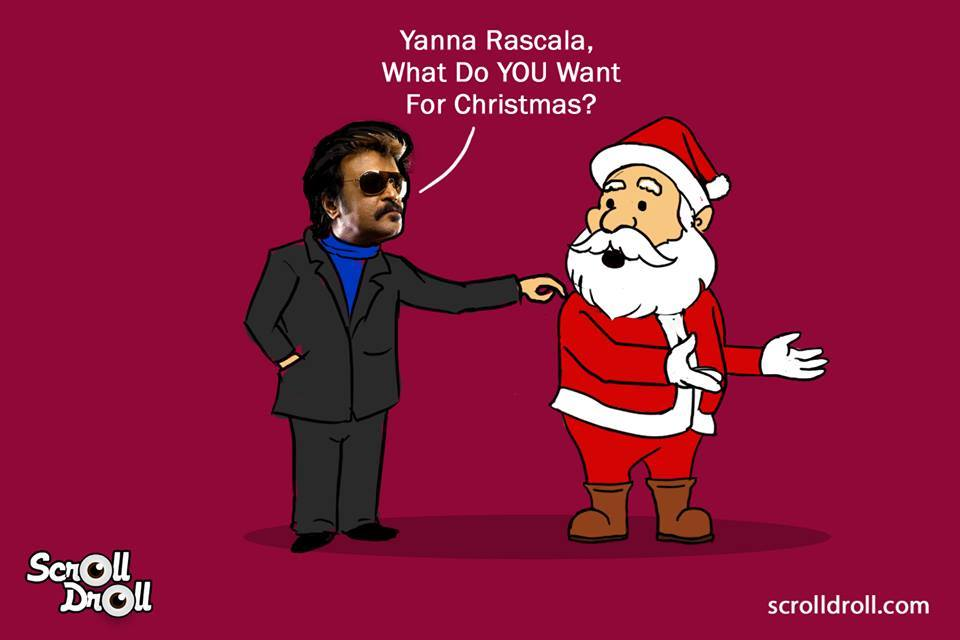 When Rajnikanth Met Santa