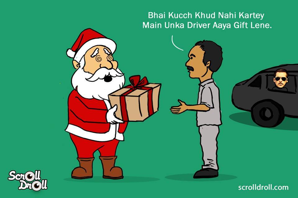 When Salman Khan Met Santa