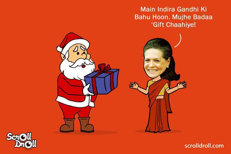 When Sonia Gandhi Met Santa