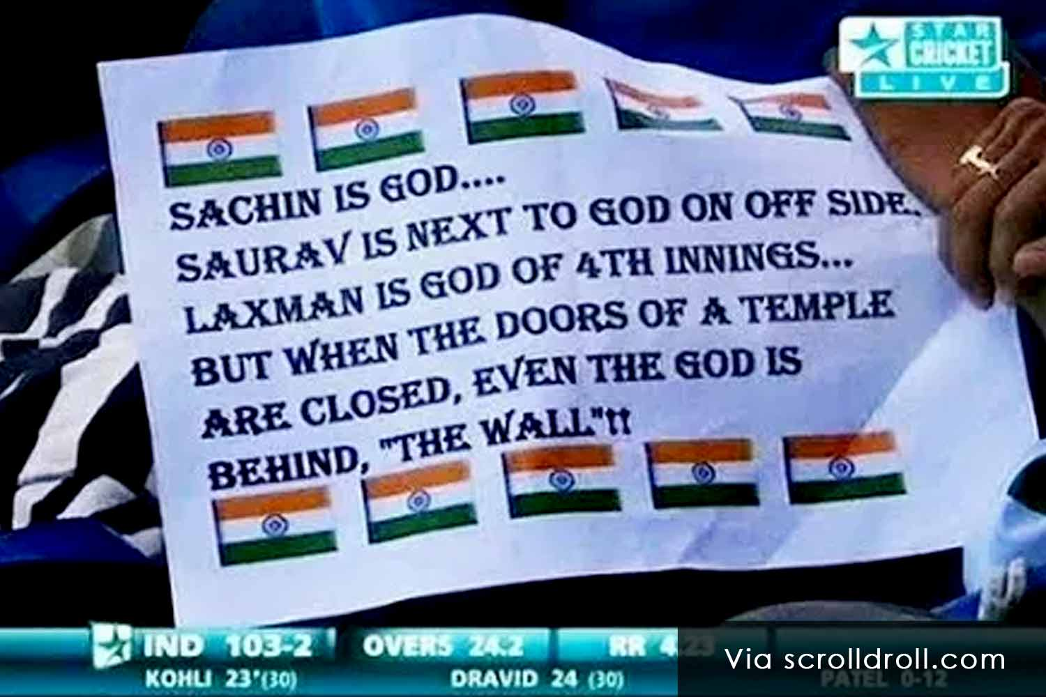 Witty Banners At Cricket Matches (1)