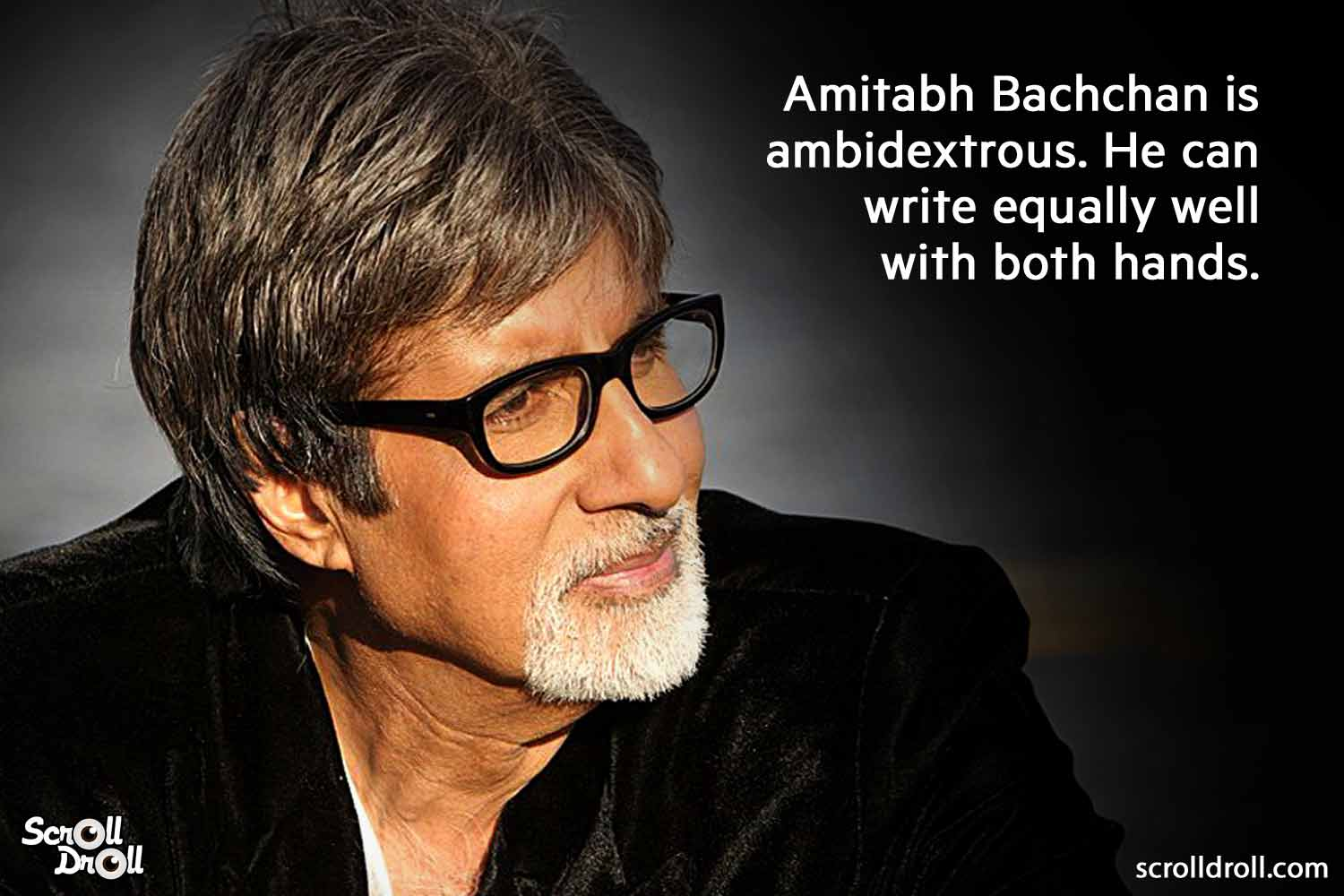 he is write from both hands-amitabh bachchan facts