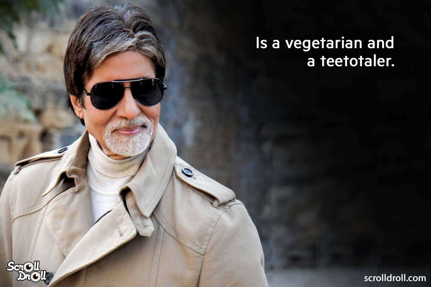 is a vegetarian and a teetotaler-amitabh bachchan facts