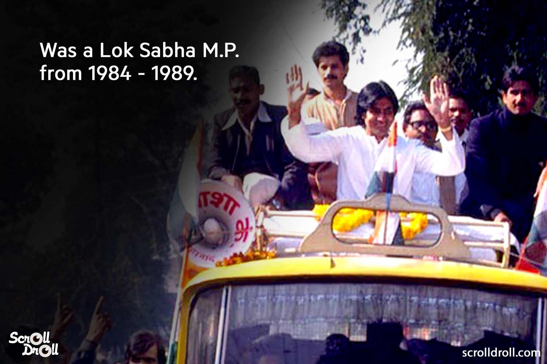 wasa lok sabha m.p. from 1984-1989-amitabh bachchan facts