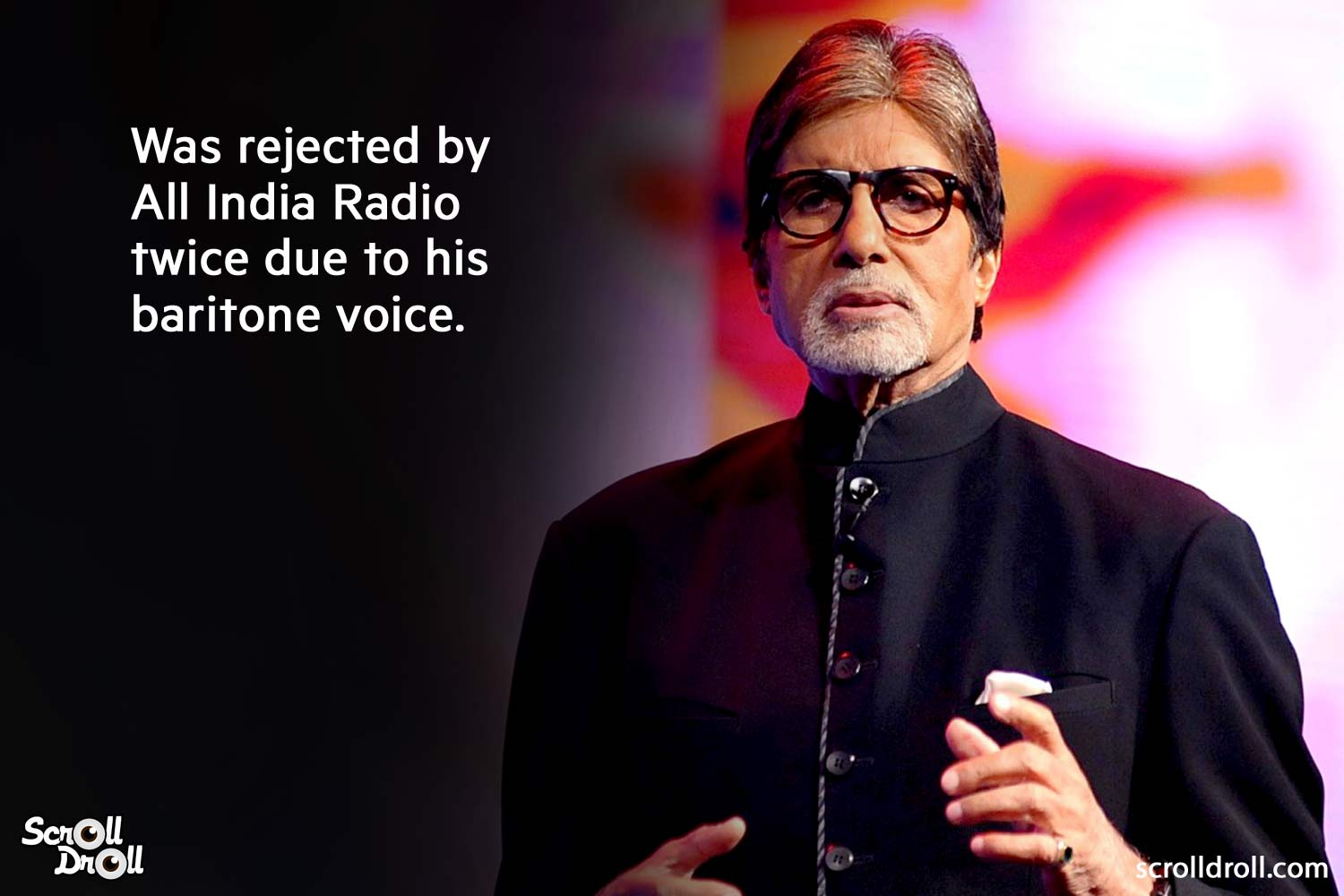 was rejected by all india radio twice due to his baritone voice-amitabh bachchan facts