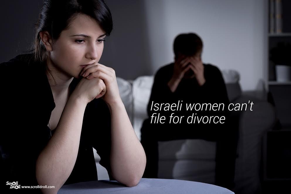 Israeli women can;t file for divorce- Sexist Laws