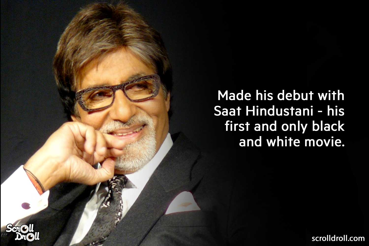 made his debut with saat hundstani his first and only black and white movie-amitabh bachchan facts