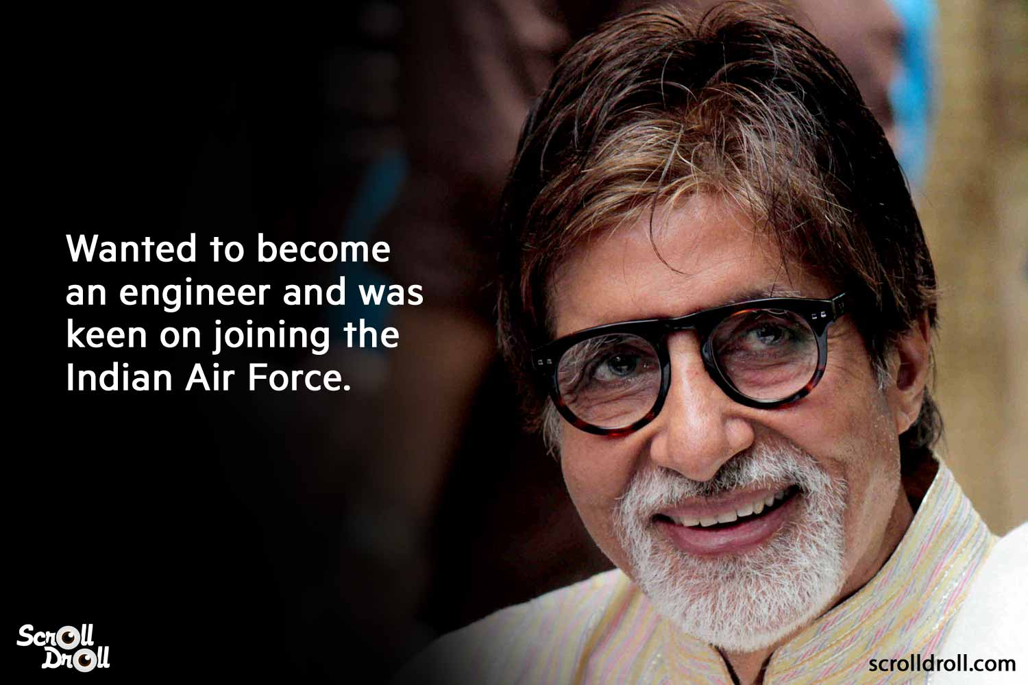 wanted to become an engineer and was keen on joining the indian airforce-amitabh bachchan facts