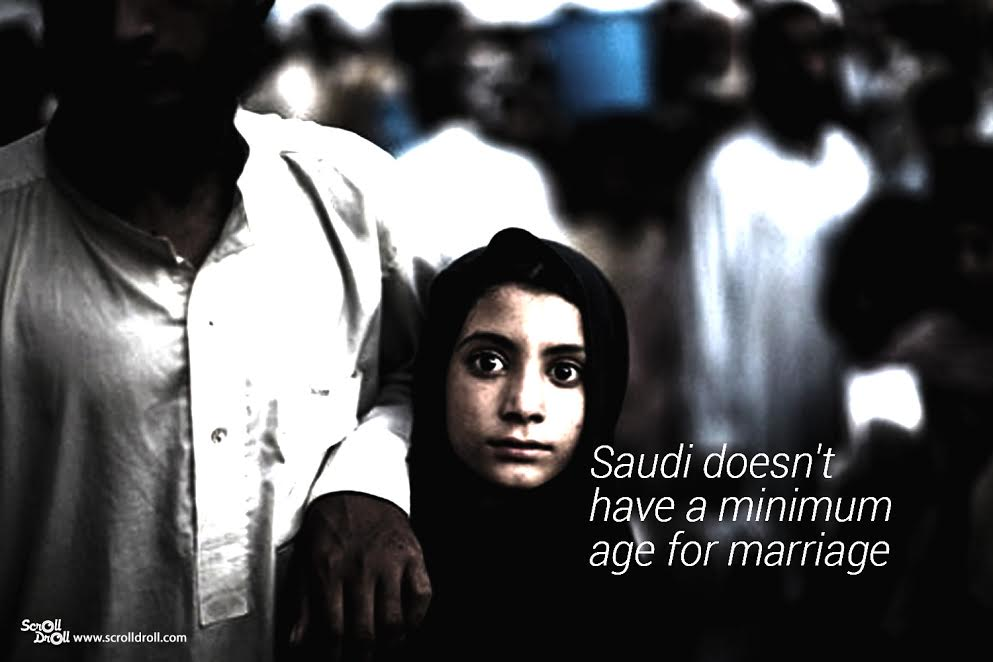 Saudi doesn't have a minimum age for marriage- Sexist Laws