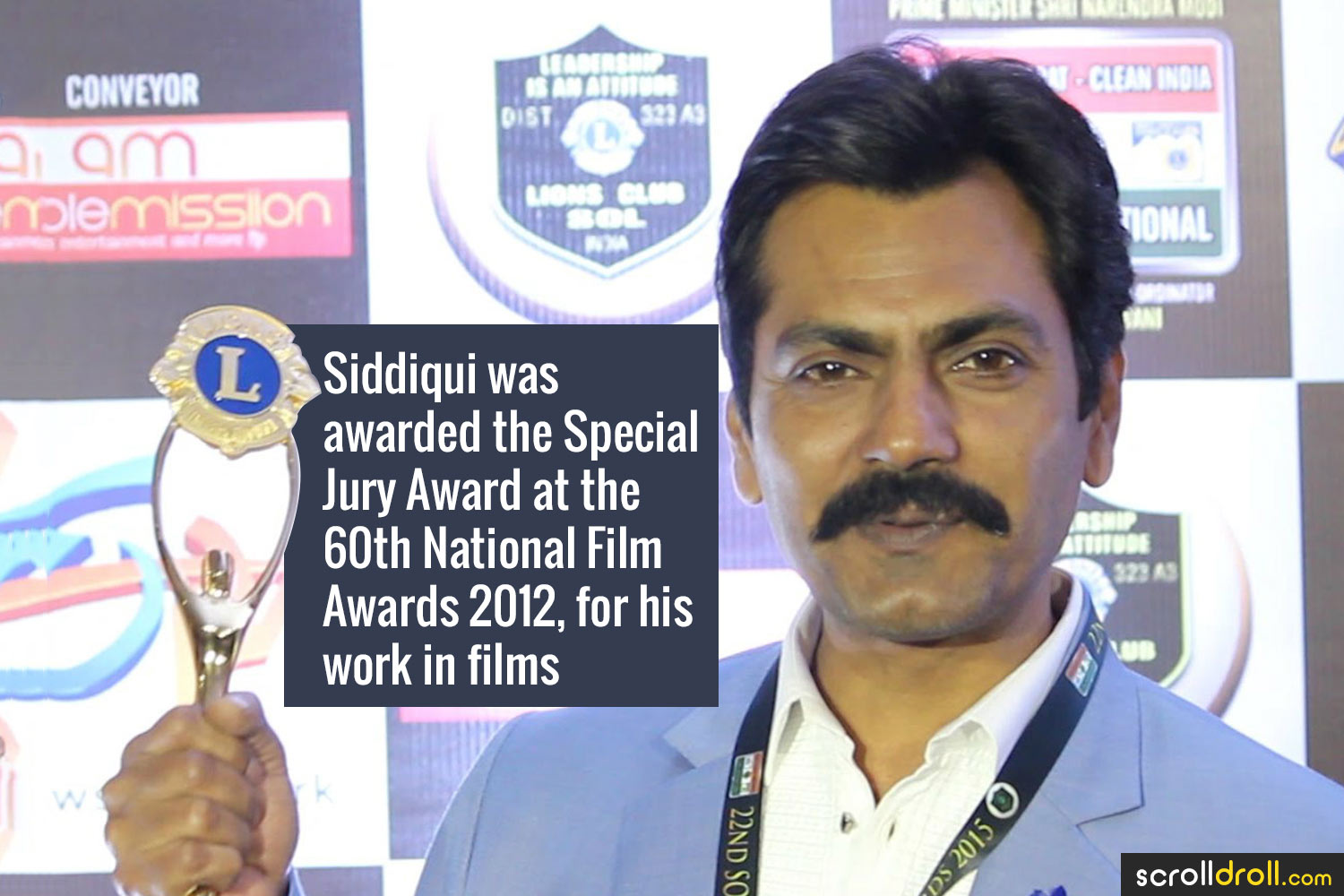 Facts about Nawazuddin Siddique- Siddiqui was the Special Jury Award at the 60th National Film Awards 2012,for his work in films