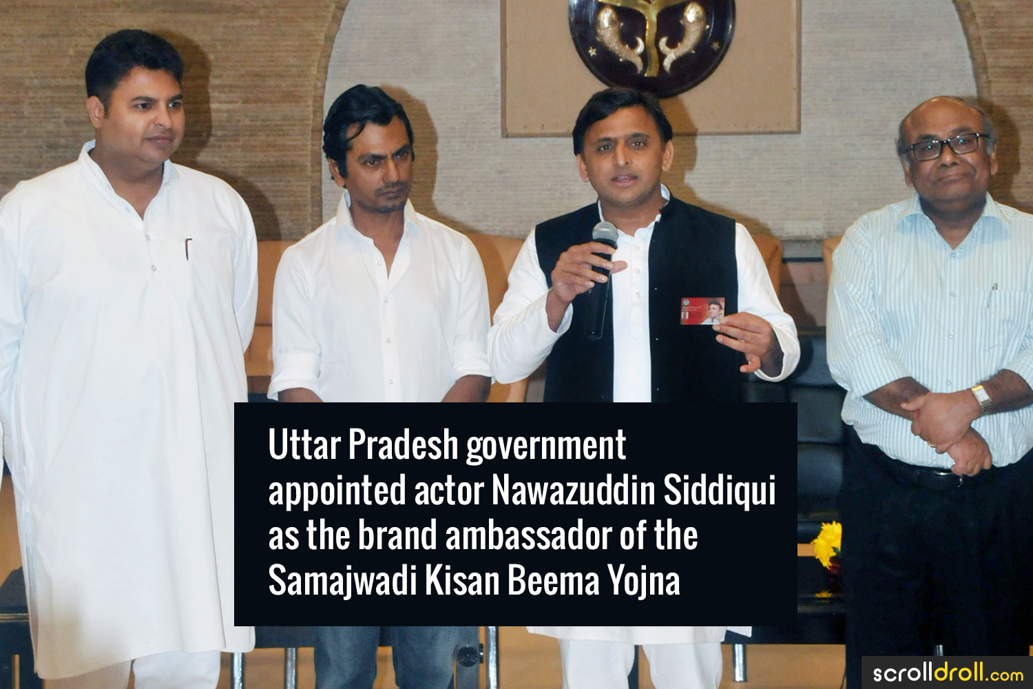 Facts about Nawazuddin Siddique-Uttar Pradesh government actor Nawazuddin Siddiqui as the brand ambassador of the Samajwadi Kiasn Beema Yojna