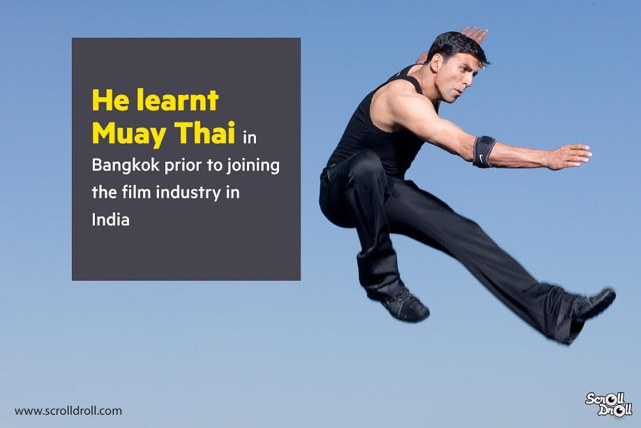 akshay kumar learnt muay thai before entering Bollywood