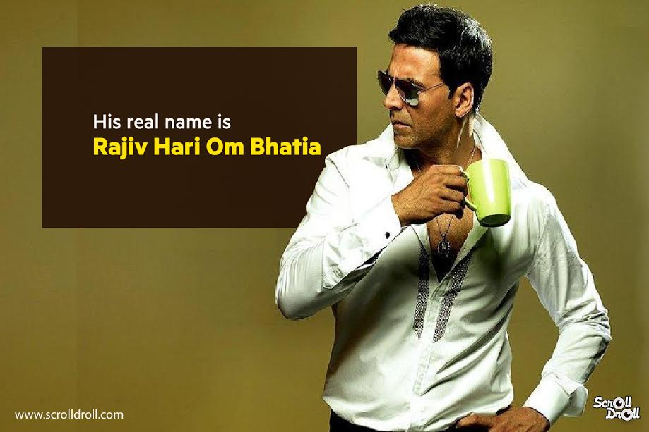 akshay kumar's real name is rajiv hari om bhatia-akshay kumar facts
