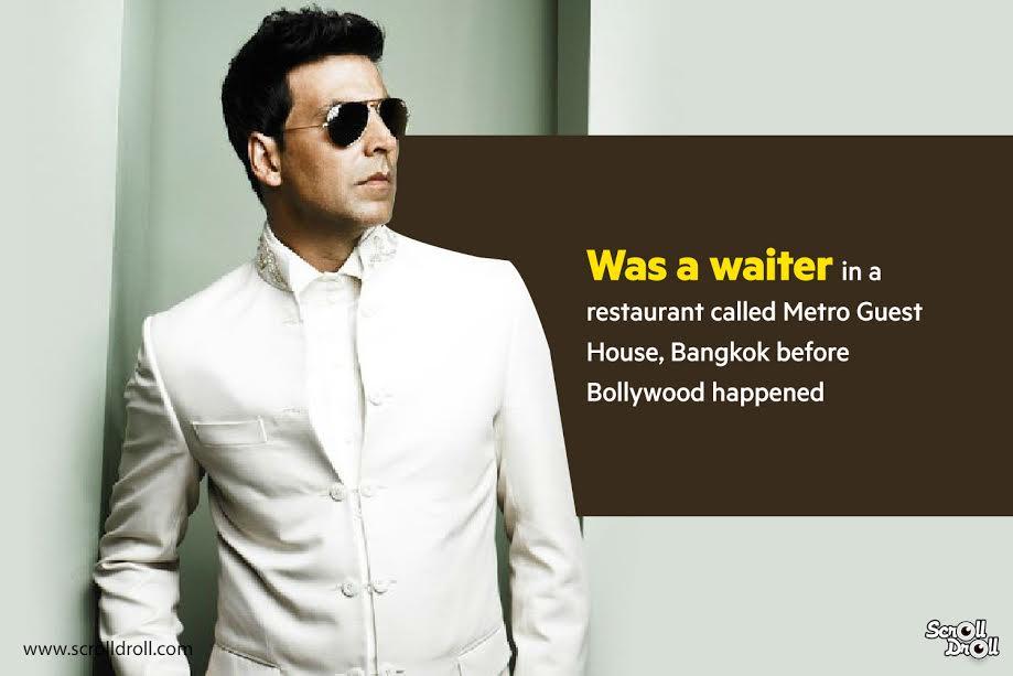 akshay kumar was a waiter-akshay kumar facts
