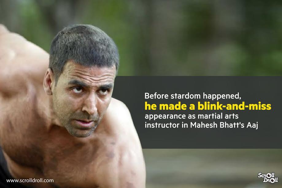 akashay kumar acted as martial arts instructor in aaj-akshay kumar facts