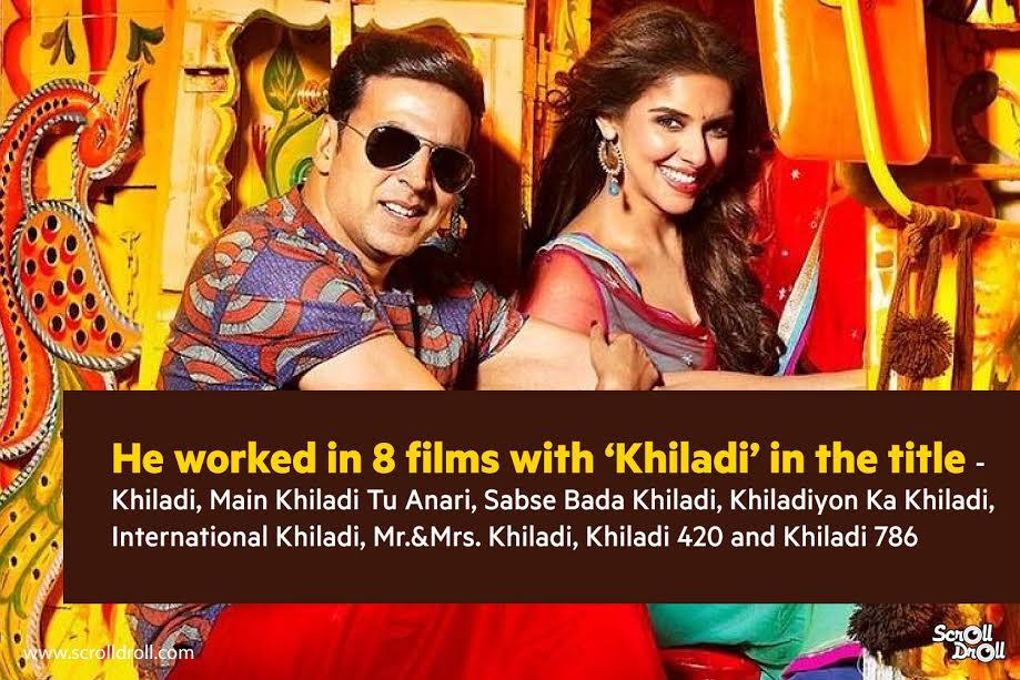 akshay kumar worked in 8 films named khiladi-akshay kumar facts