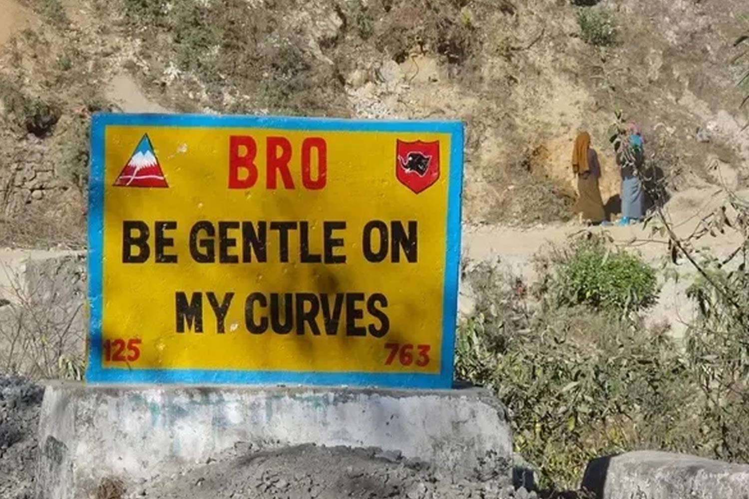 Funny Signboards-Be gentle on my curves