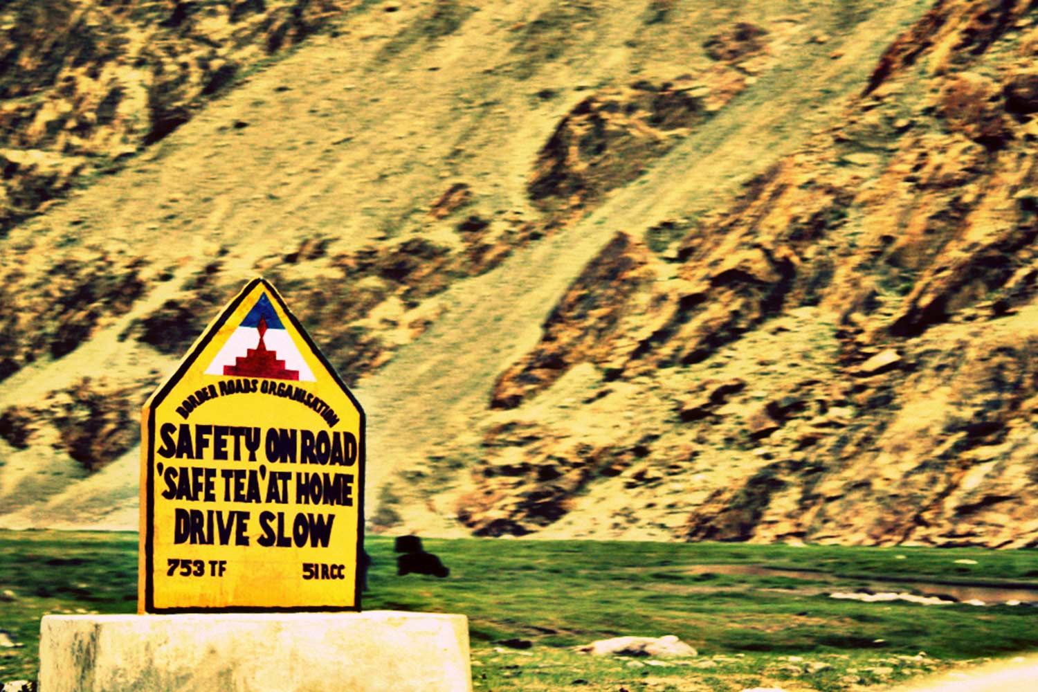 Funny Signboards-Saftey on road safe tea at home droive slow