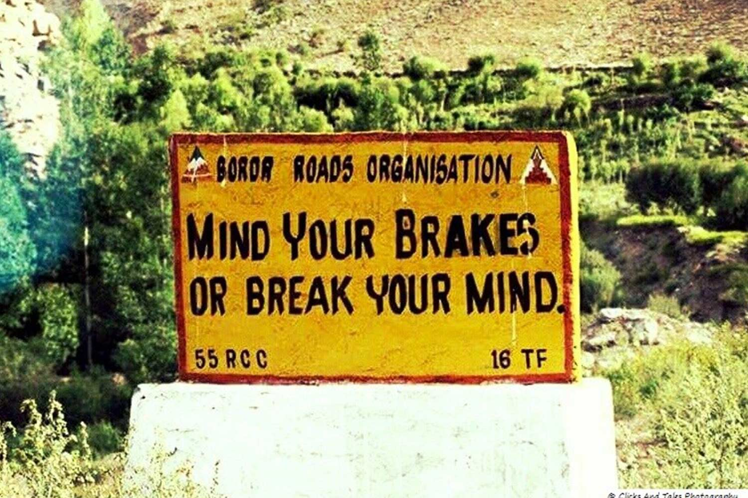 Funny Signboards-Mind your brakes or break your mind