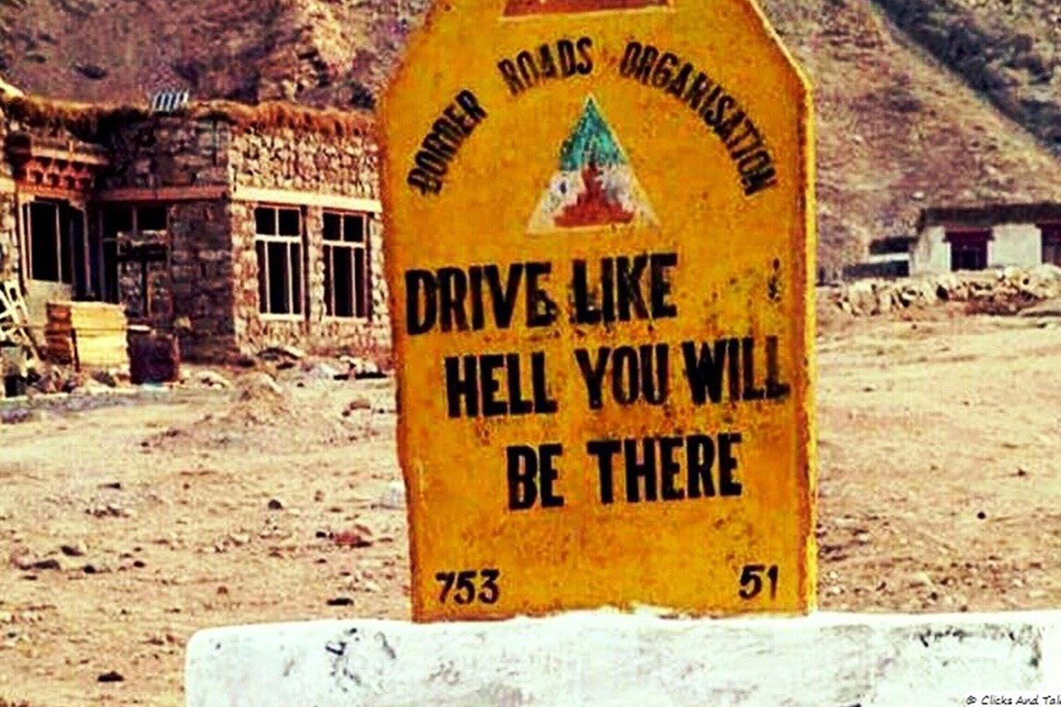 Funny Signboards-Drive like hell you will be there