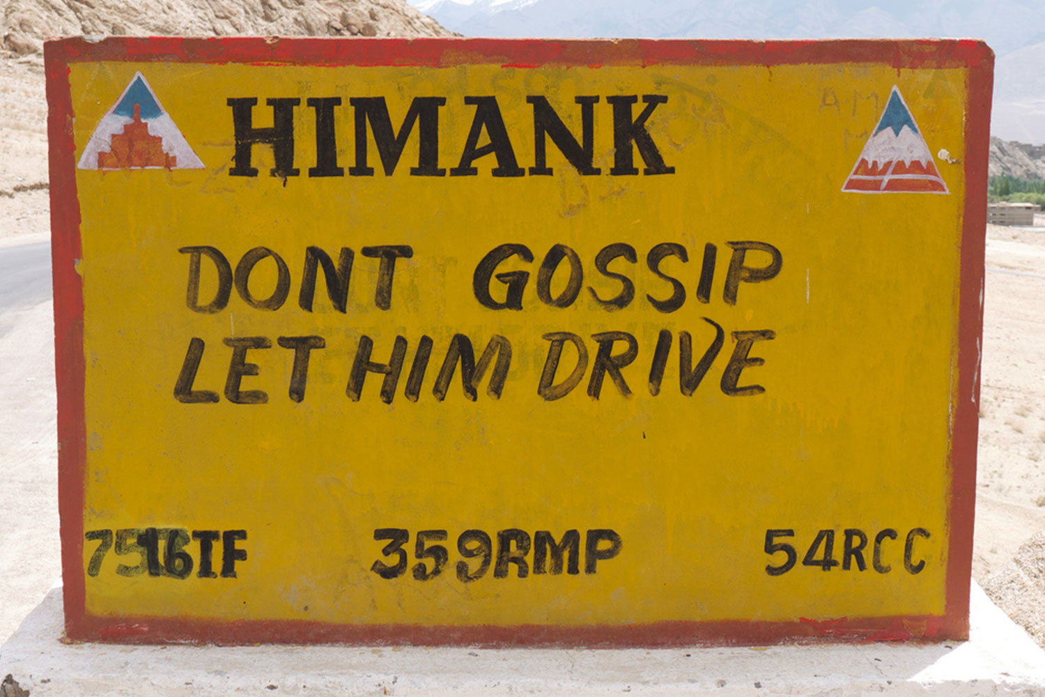 Funny Signboards-Dont gossip let him drive