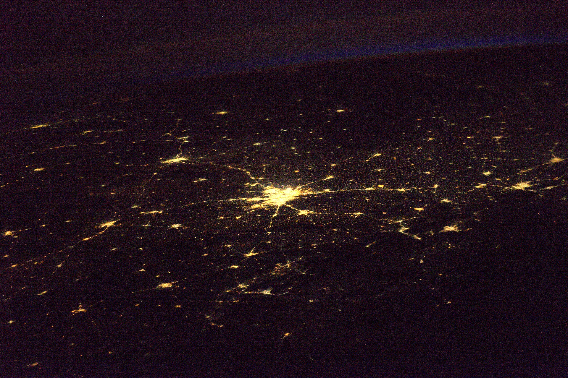 Earlier Thomas Pesquet had also tweeted an image of New Delhi from space-India From Space