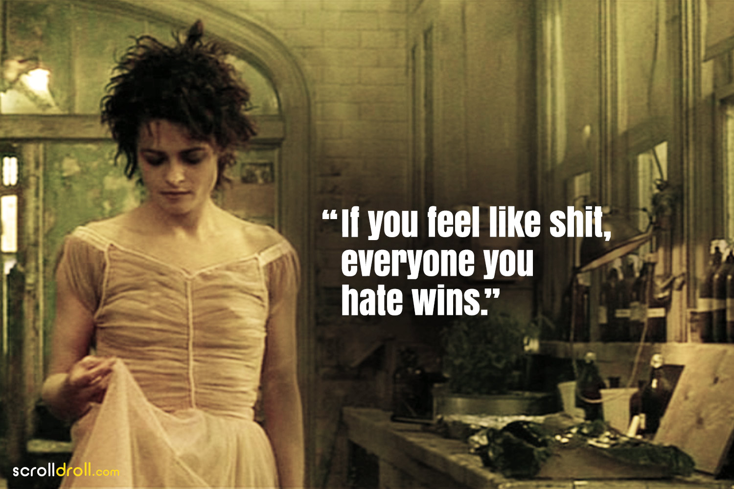 Fight Club Quotes- If you feel like shit,everyone you hate wins