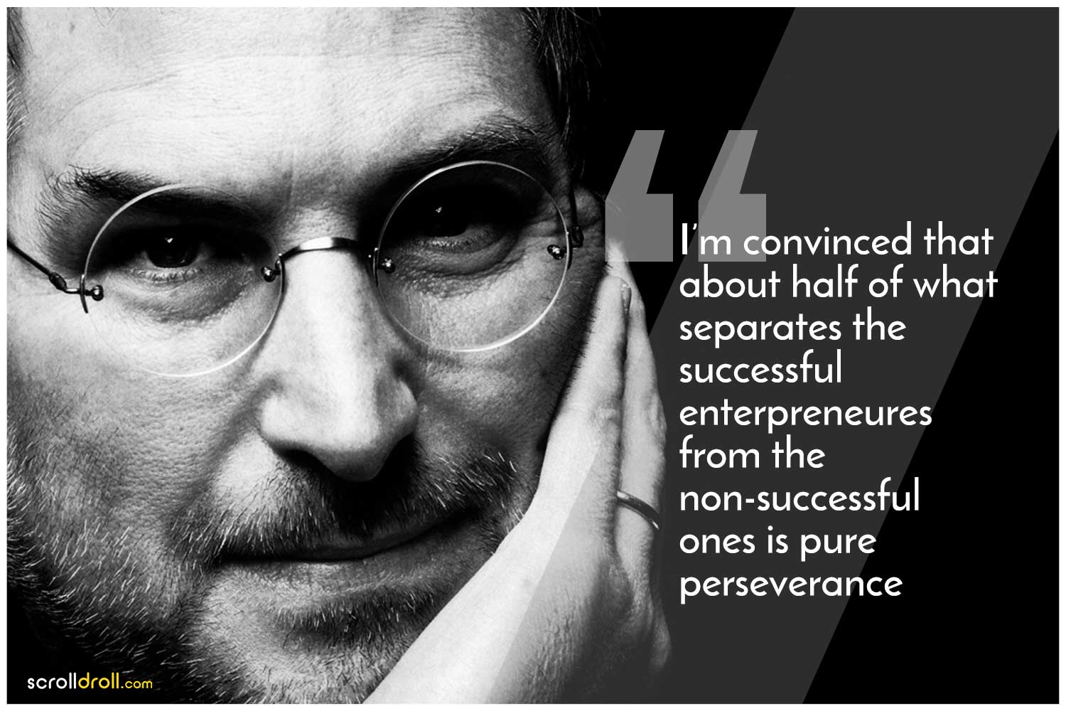 -Steve Jobs Quotes-I'm convinced that about half of what separates the successful enterprenures from the non-successful ones is pure presevance
