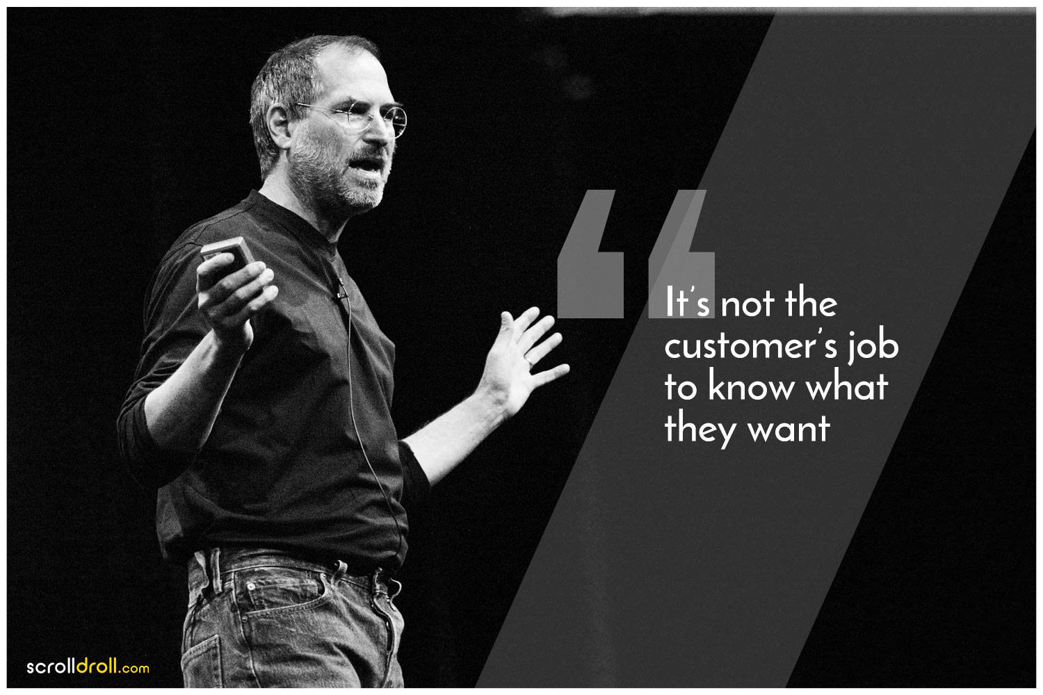 -Steve jobs Quotes-It's not the customer's job to know what they want