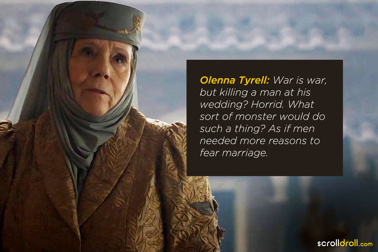 Lady Olenna Had Harsh Words for Men on Game of Thrones and I'm Here for It
