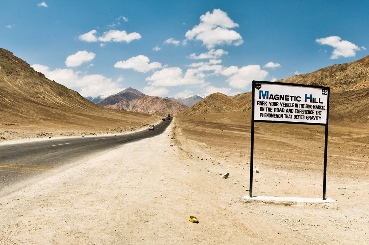 The Magnetic Hill-Incredible Natural Wonders in India