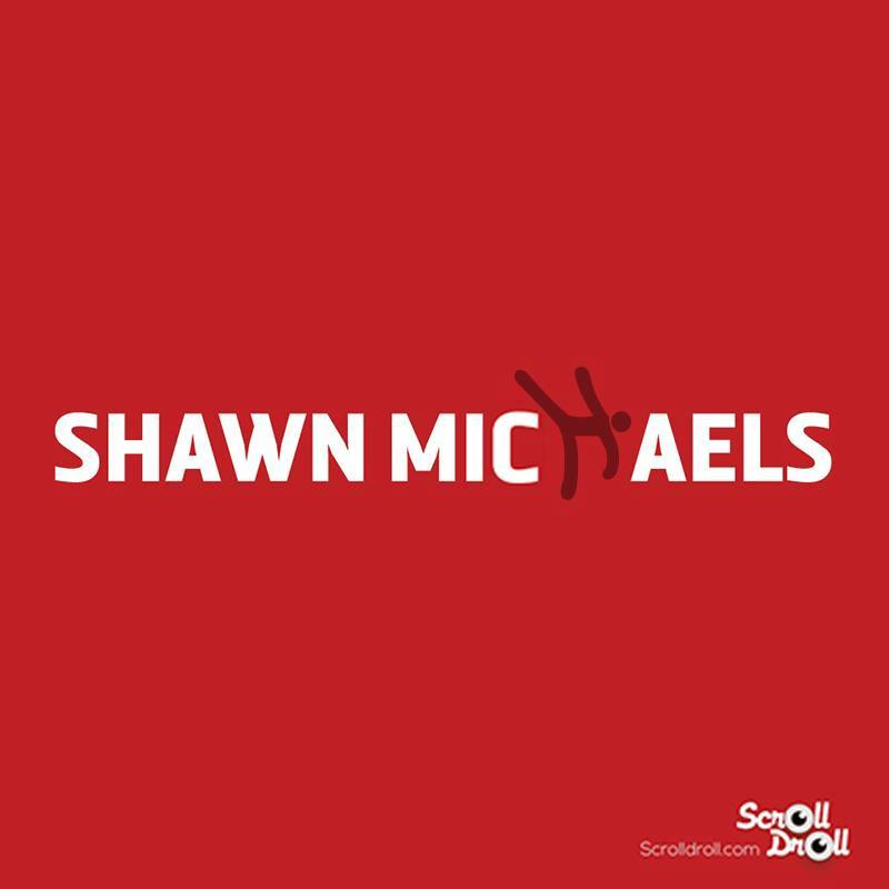 These Minimal WWE Posters-Shawn michaels