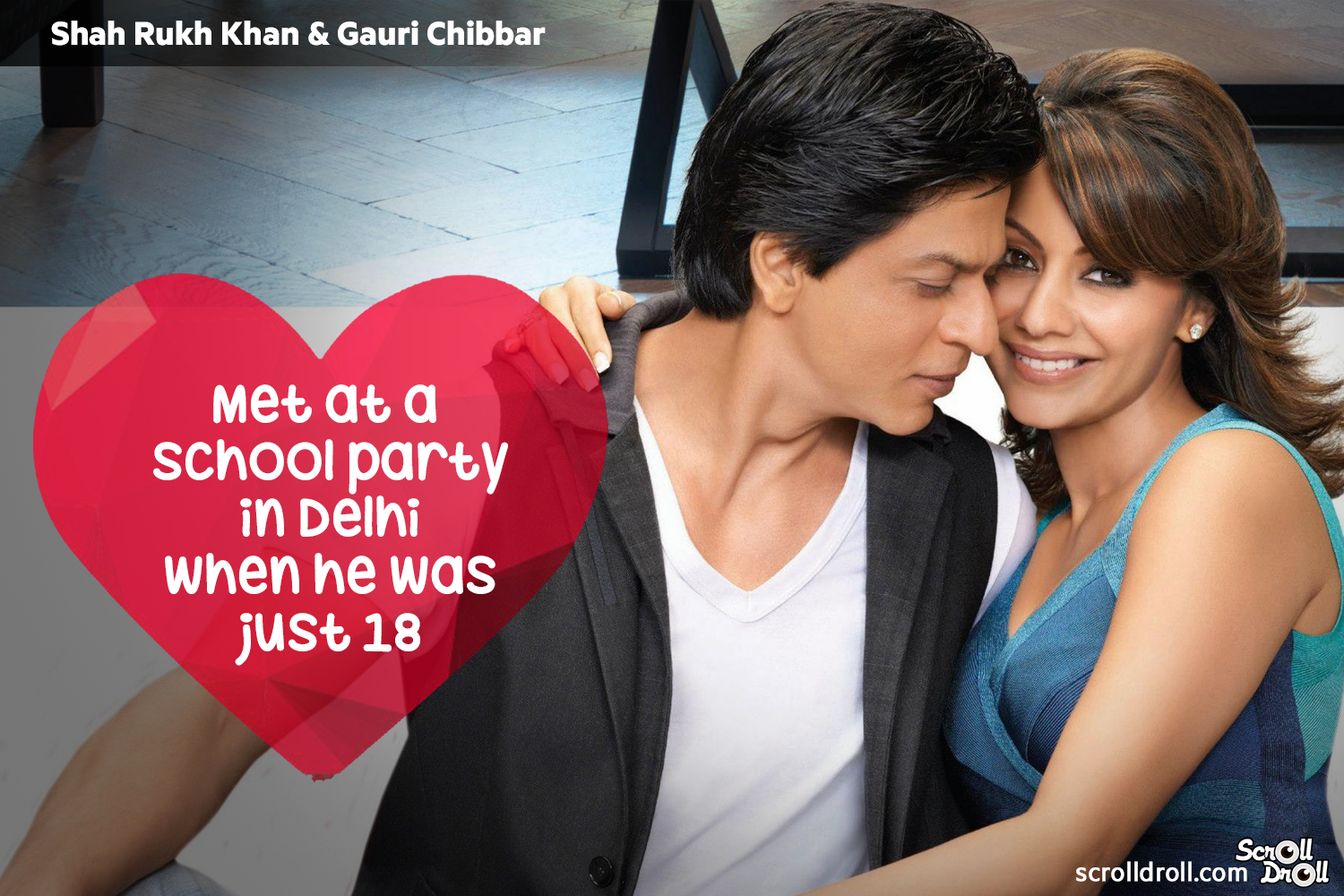 How These Famous Couples Met-Sharukh and gauri khan