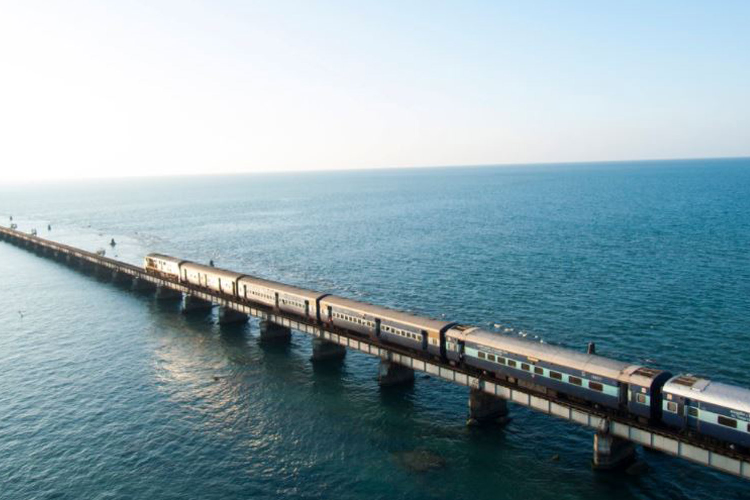 Interesting Places In India-The bridge built over a sea - Pamban Bridge