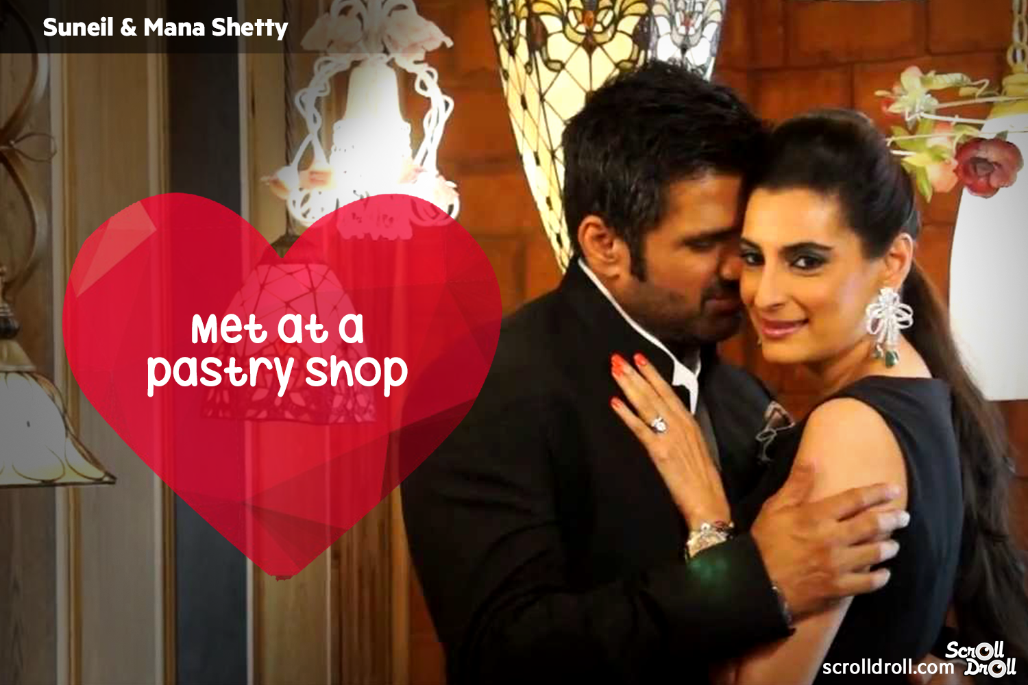 How These Famous Couples Met-sunil and Mana shetty