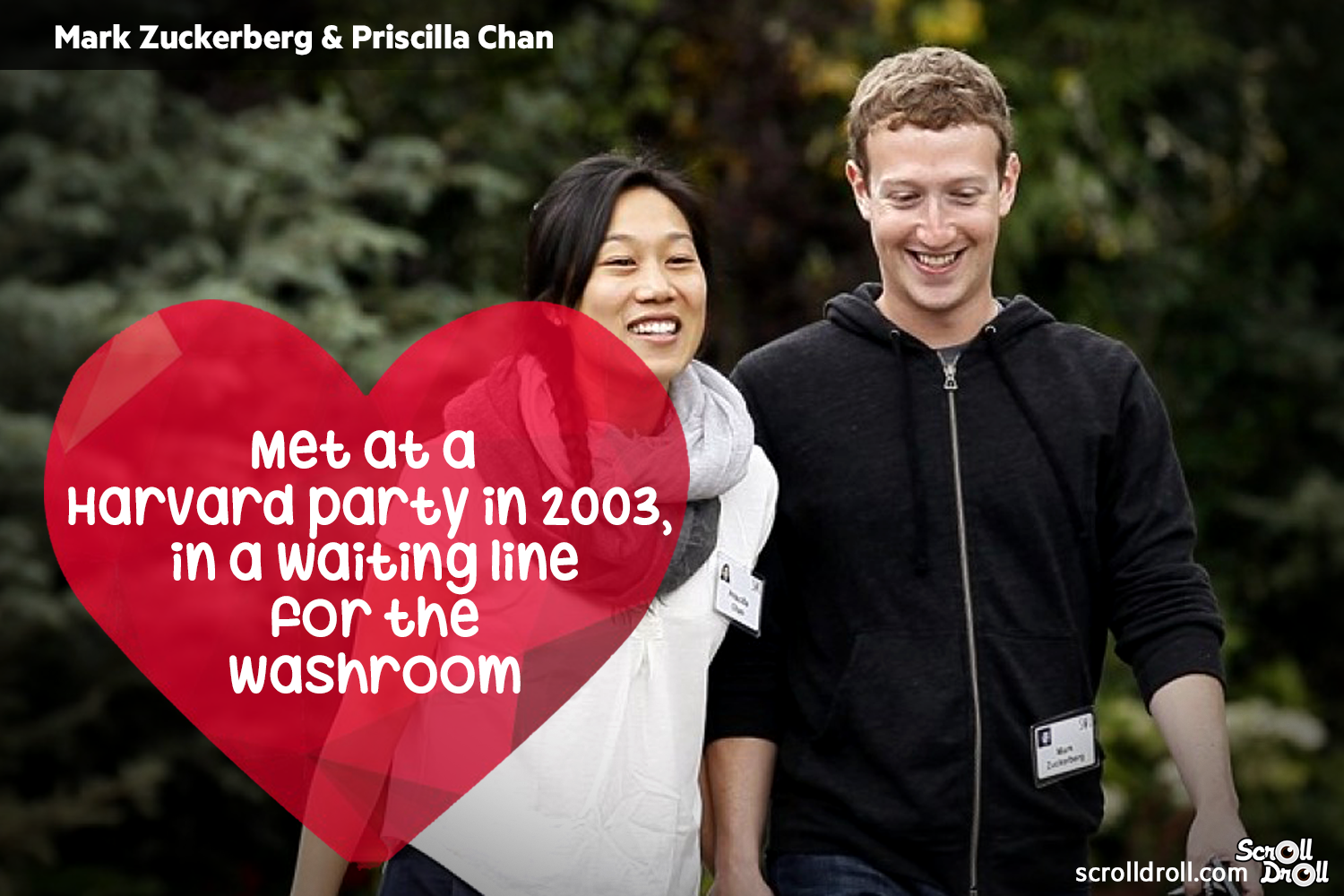 How These Famous Couples Met- Mark zukerberg and priscilaa khan