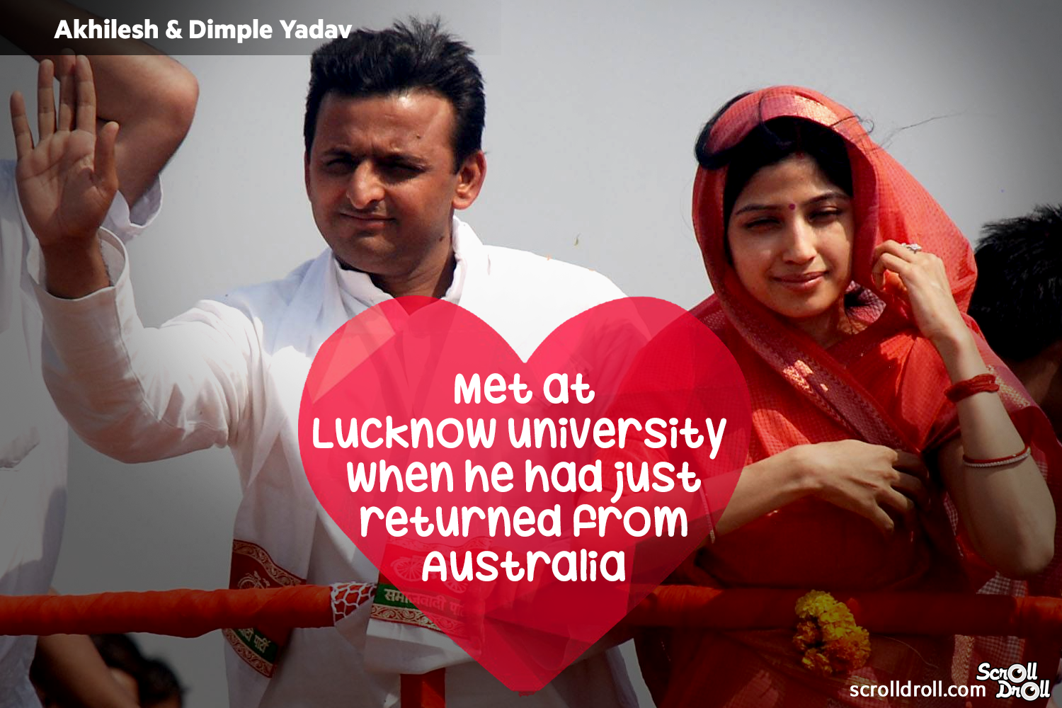 How These Famous Couples Met-Akhilesh & Dimple yadav