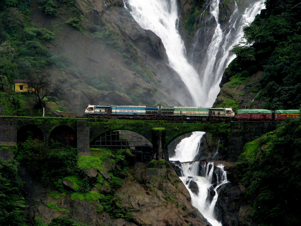 Dudhsagar Falls – Goa – Most Beautiful Waterfalls Of India