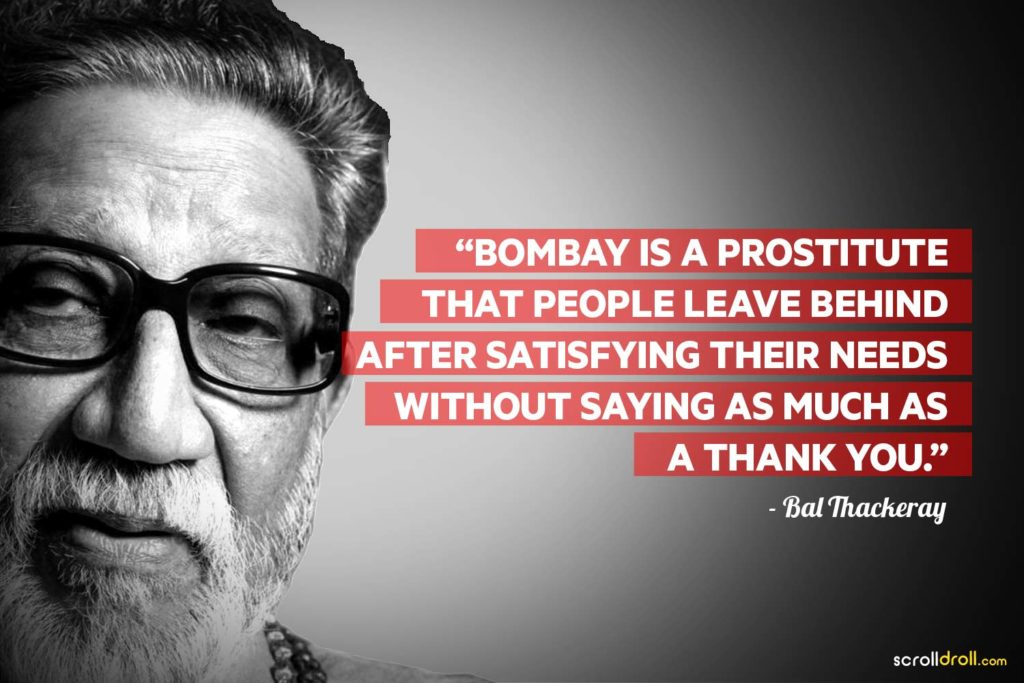 Bal Thackeray Controversial