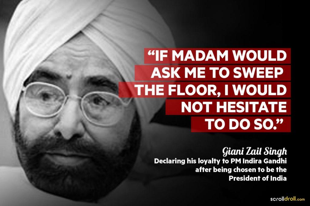 Giani Zail Singh Controversial
