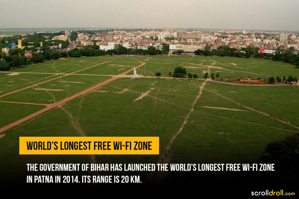 Worlds longest free WiFi Zone