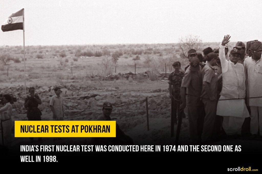 Nuclear test at Pokhran