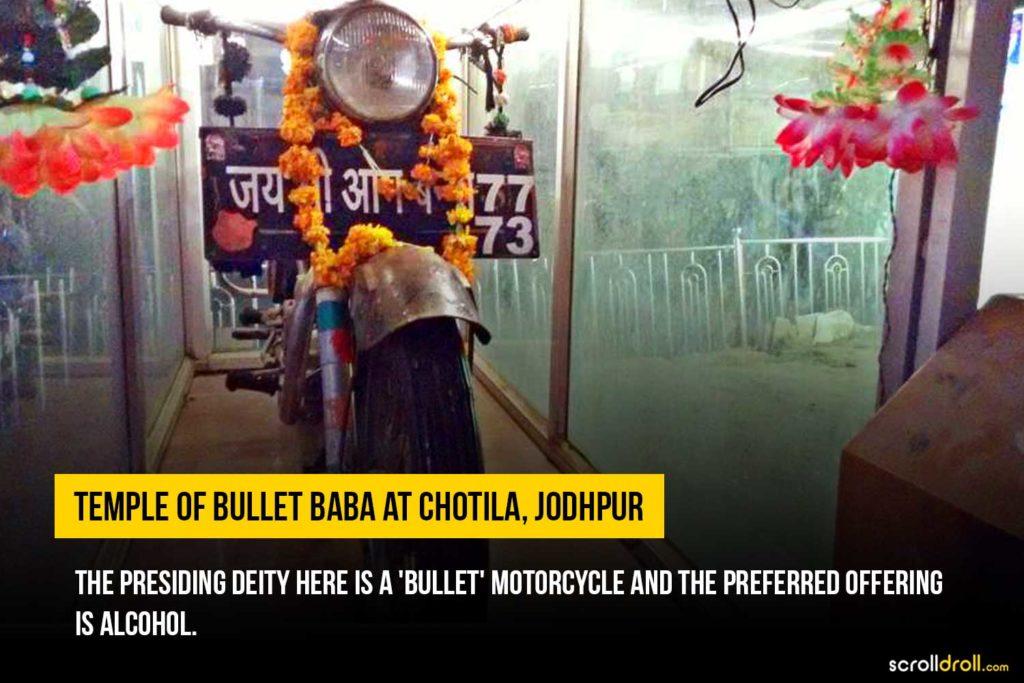Temple of Bullet Baba at chotila