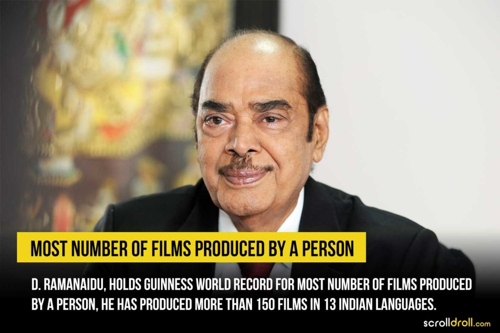 Most  Number of films produced by a person